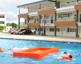Classrooms by the pool at PNTC Colleges - Tanza Training Facility (Tanza, Cavite)